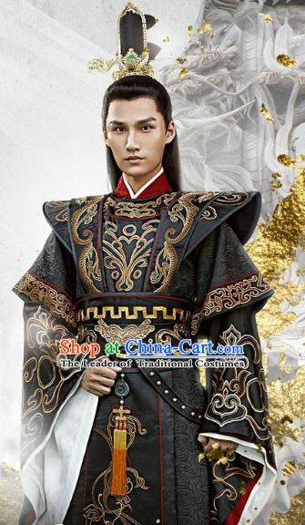 Chinese Ancient Tang Dynasty Prince Li Chongjun Embroidered Replica Costume for Men