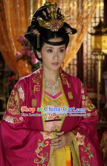 Chinese Ancient Tang Dynasty Princess Taiping Hanfu Dress Embroidered Replica Costume for Women