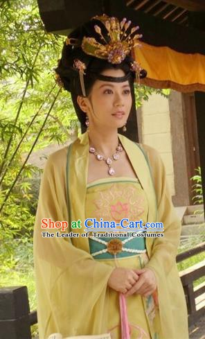 Chinese Ancient Tang Dynasty Taiping Princess Hanfu Dress Embroidered Replica Costume for Women