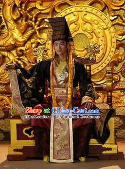 Chinese Ancient Tang Dynasty Emperor Li Longji Replica Costume for Men