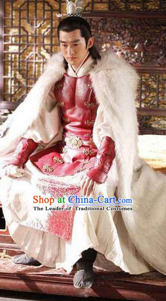 Chinese Ancient Tang Dynasty Military Officer Replica Costume for Men