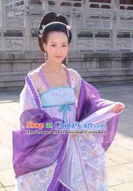 Chinese Ancient Tang Dynasty Imperial Consort Xiaoshu Hanfu Dress Embroidered Replica Costume for Women