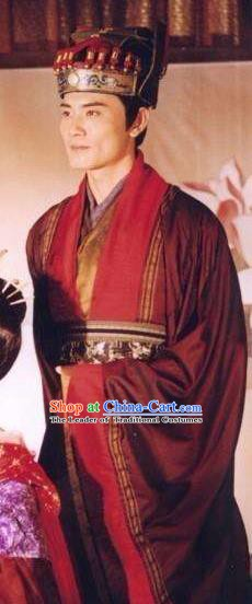 Chinese Ancient Tang Dynasty Minister Nobility Childe Xue Shao Replica Costume for Men