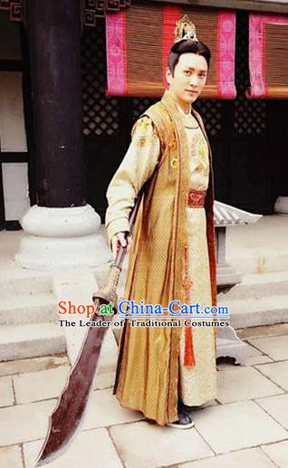 Chinese Ancient Tang Dynasty General Pei Chongguang Replica Costume for Men