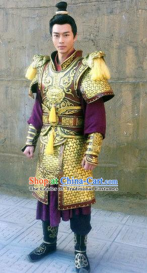 Chinese Ancient Tang Dynasty Swordsman General Xue Huaiyi Replica Costume for Men