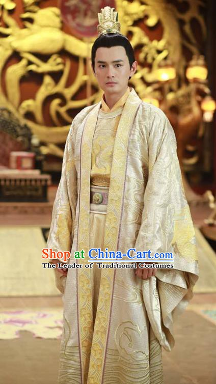 Chinese Tang Dynasty Royal Highness Pu Replica Costume Ancient Prince Li Tai Clothing for Men