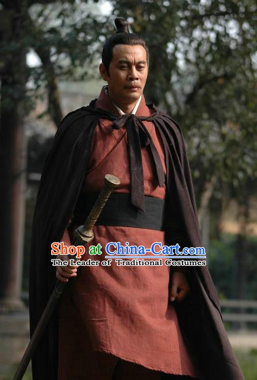 Chinese Ancient Han Dynasty General Han Xin Replica Costume for Men