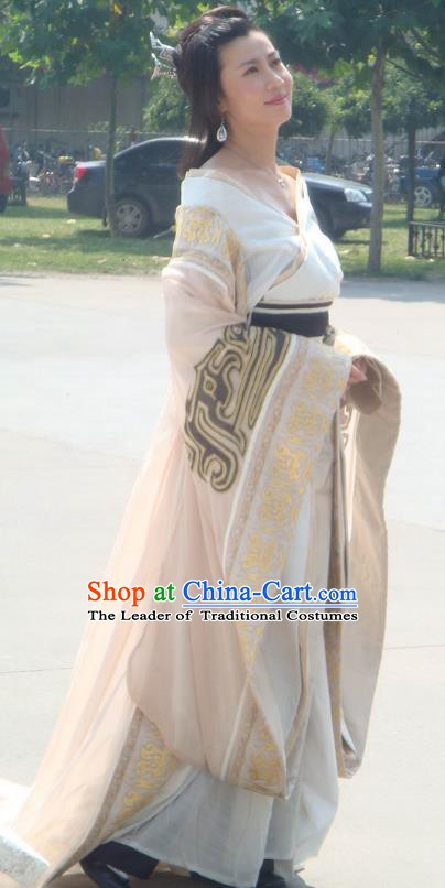 Traditional Chinese Han Dynasty Queen Mother Bu Hanfu Dress Ancient Empress Dowager Replica Costume for Women