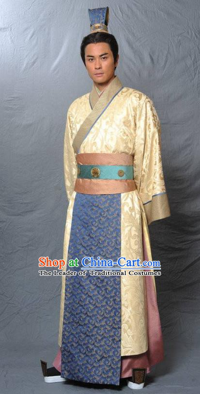 Chinese Ancient Tang Dynasty Imperial Bodyguard Nobility Childe Replica Costume for Men