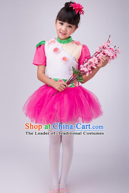 Top Grade Children Stage Performance Costume, Professional Modern Dance Princess Bubble Dress for Kids