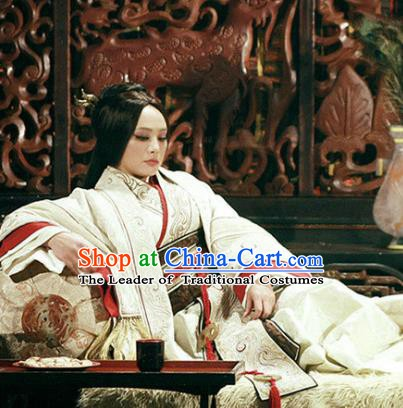 Chinese Ancient Warring States Time Palace Empress Dowager Mi Yue Hanfu Dress Replica Costume for Women