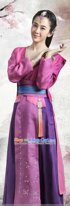 Chinese Ancient Three Kingdoms Dynasty Nobility Lady Hanfu Dress Replica Costume for Women