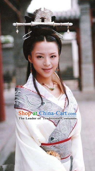 Traditional Chinese Qin Dynasty Princess Min Dai Hanfu Dress Ancient Imperial Concubine Replica Costume for Women