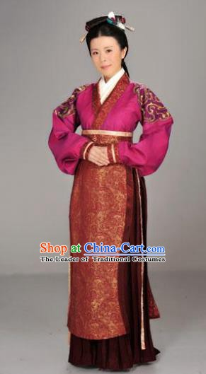 Traditional Chinese Ancient Chu Kingdom Palace Lady Hanfu Dress Embroidered Replica Costume for Women