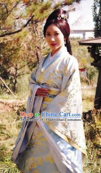 Traditional Chinese Ancient Wei Kingdom Princess Hanfu Dress Embroidered Replica Costume for Women