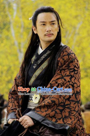 Traditional Chinese Ancient Qin State Politician Yong Rui Replica Costume for Men