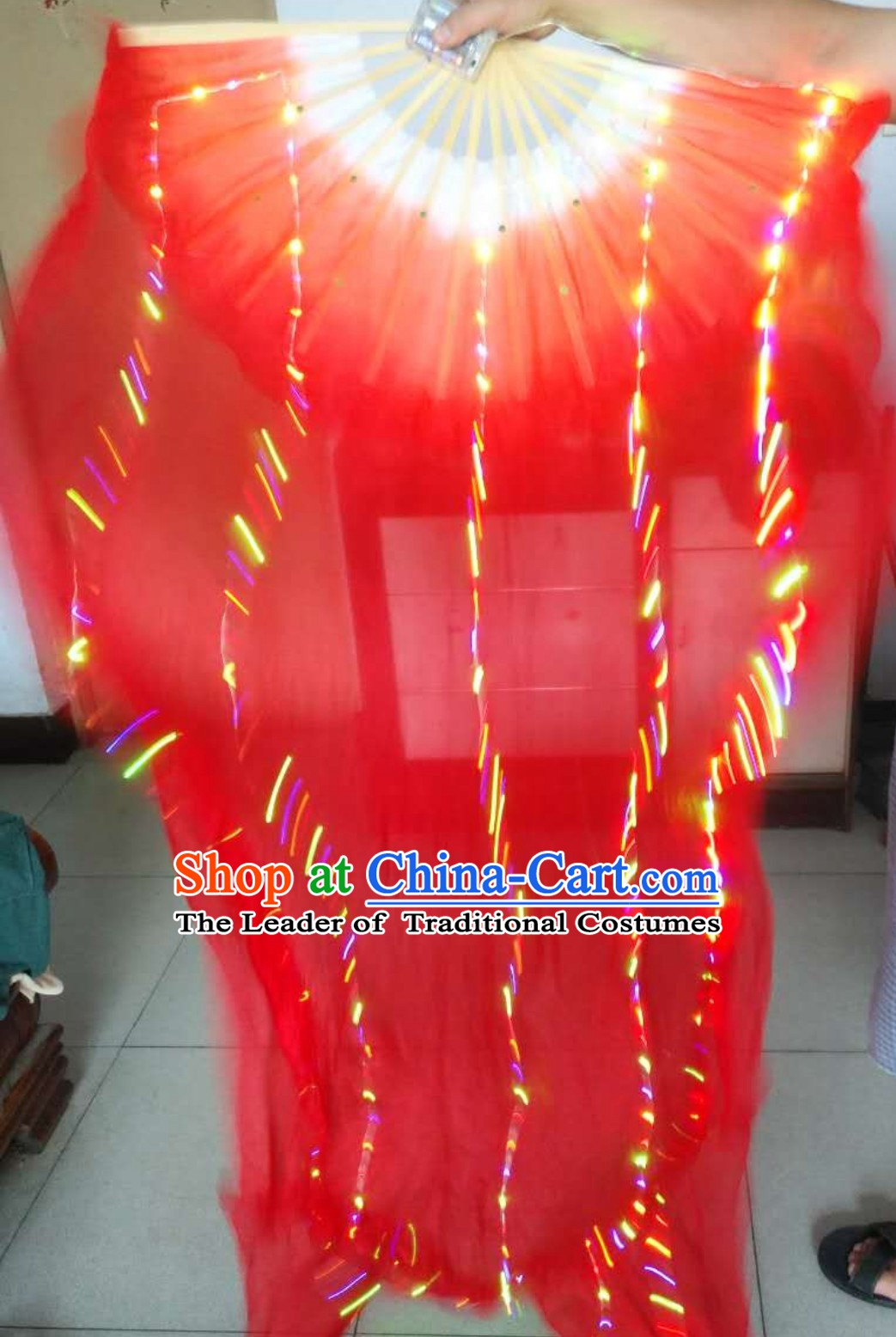 1.5 Meter Professional Stage Performance LED Dance Fans Dancing Fan Hands Props