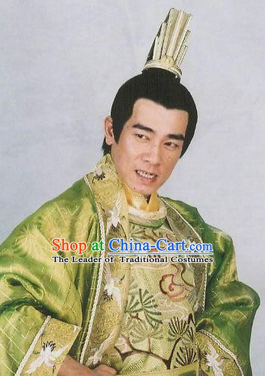 Ancient Chinese Tang Dynasty Emperor Dragon Robe Replica Costume for Men