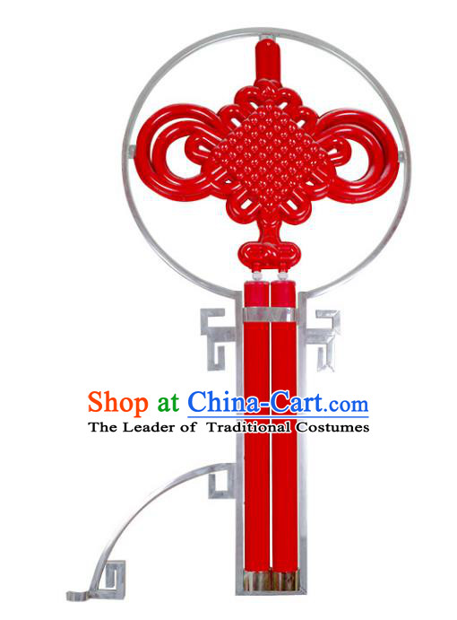 Traditional Handmade Chinese Red Lanterns Spring Festival Chinese Knots Electric LED Lights Street Light Lamp Decoration