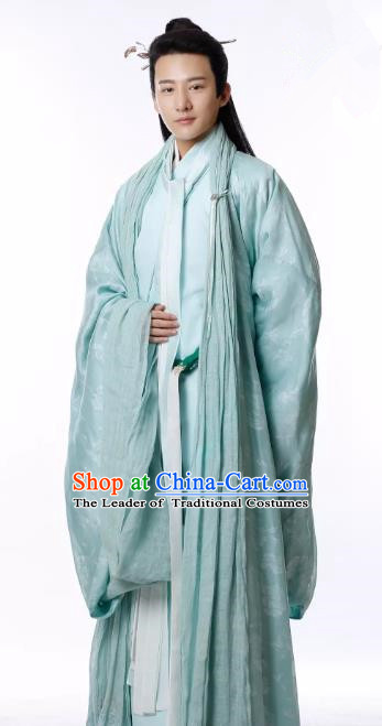 Untouchable Lovers Chinese Ancient Southern and Northern Dynasties Scholar Nobility Childe Replica Costume for Men