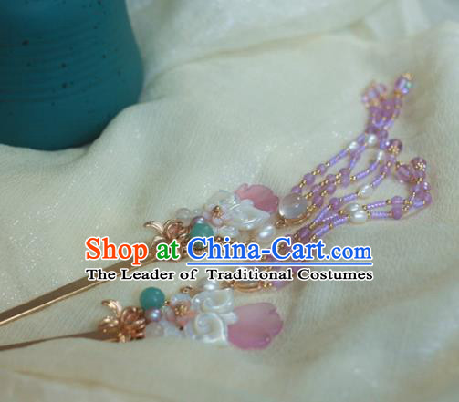 Traditional Chinese Ancient Tassel Step Shake Hair Accessories Handmade Hanfu Hairpins for Women