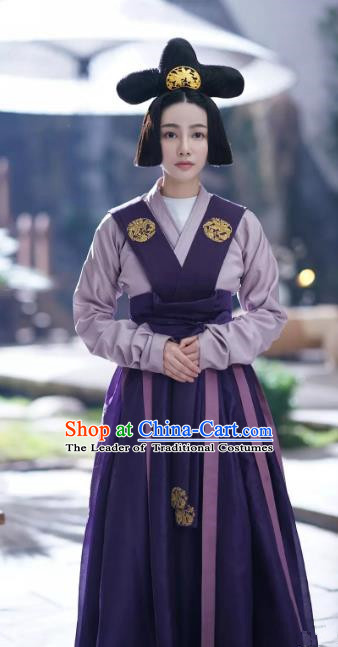 Ancient Drama Untouchable Lovers Chinese Southern and Northern Dynasties Court Maid Replica Costume for Women
