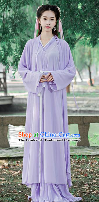 Traditional Chinese Ancient Swordswoman Costume Song Dynasty Young Lady Hanfu Dress for Women
