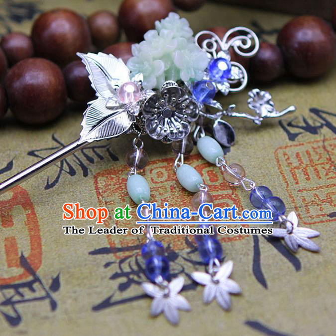 Chinese Ancient Hair Accessories Hanfu Hairpins Traditional Palace Butterfly Step Shake Headwear for Women