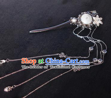 Chinese Ancient Hair Accessories Hanfu Hairpins Tassel Step Shake Traditional Palace Headwear for Women