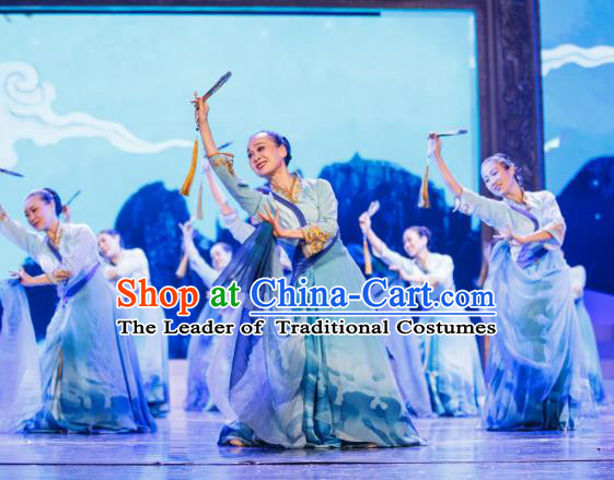 Traditional Chinese Folk Dance Yangko Costume, China Classical Dance Clothing for Women