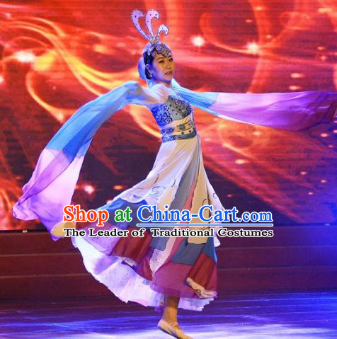 Chinese Traditional Folk Dance Costume, China Classical Dance Yangko Dance Clothing for Women