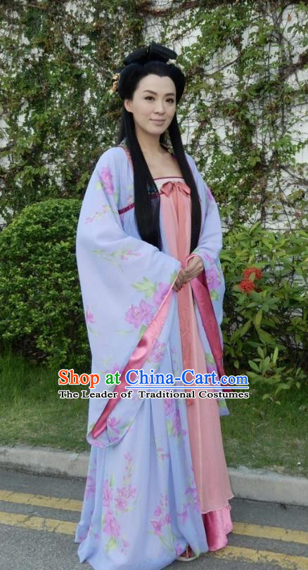 Chinese Ancient Princess Hanfu Dress Tang Dynasty Princess Taiping Embroidered Costumes for Women