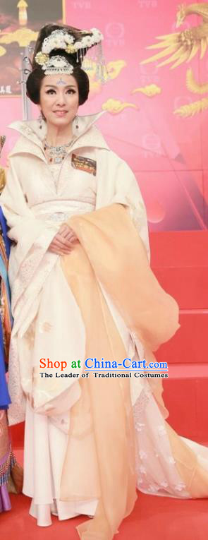 Chinese Ancient Imperial Empress Wei Hanfu Dress Tang Dynasty Palace Queen Embroidered Costumes for Women