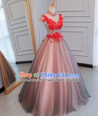 Top Grade Stage Performance Catwalks Costumes Wedding Dress Princess Full Dress Chorus Modern Fancywork Clothing