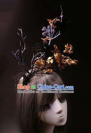 Top Grade Catwalks Hair Accessories Halloween Hair Clasp Stage Performance Modern Fancywork Headwear