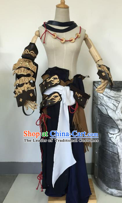 Traditional China Ancient Warrior Cosplay Swordsman Costumes Chinese Knight-errant Clothing for Men