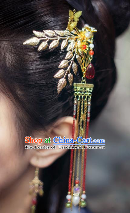 China Ancient Hair Accessories Hanfu Tassel Step Shake Hair Clip Chinese Classical Hairpins for Women