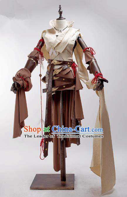 China Traditional Cosplay Swordsman Beggar Costumes Chinese Ancient Kawaler Knight-errant Clothing for Men