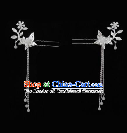 China Ancient Hair Accessories Hanfu Tassel Butterfly Step Shake Chinese Classical Hairpins for Women