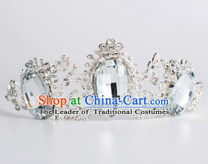 Baroque Bride Hair Accessories Crystal Royal Crown Classical Wedding Princess Imperial Crown for Women