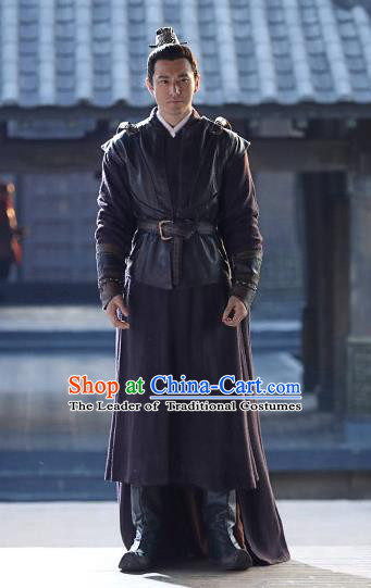 Chinese Ancient Nirvana in Fire Swordsman General Xiao Pingzhang Replica Costume for Men