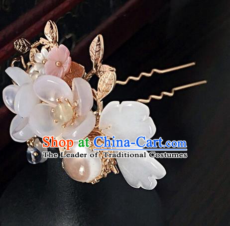 Traditional Handmade Chinese Ancient Classical Hair Accessories Hairpins Flowers Hair Clip for Women