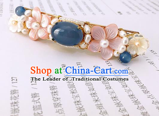 Traditional Handmade Chinese Ancient Classical Hair Accessories Pearls Hair Claw Hanfu Hairpins for Women