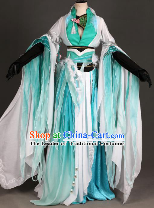 Chinese Ancient Princess Costume Cosplay Swordswoman Dress Young Lady Hanfu Clothing for Women