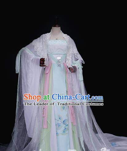 Traditional Chinese Tang Dynasty Palace Princess Costume Ancient Imperial Concubine Embroidered Hanfu Dress for Women