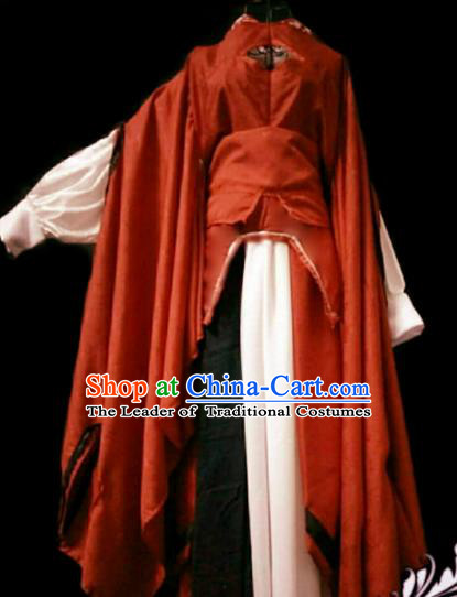 Chinese Ancient Cosplay Swordswoman Hanfu Dress Han Dynasty Heroine Costume for Women