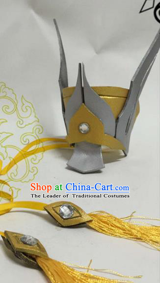 Chinese Traditional Handmade Nobility Childe Swordsman Hair Accessories Ancient Knight Hairdo Crown Headwear for Men