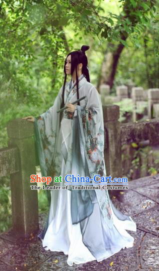 Chinese Ancient Cosplay Swordsman Clothing Jin Dynasty Nobility Childe Costume for Men