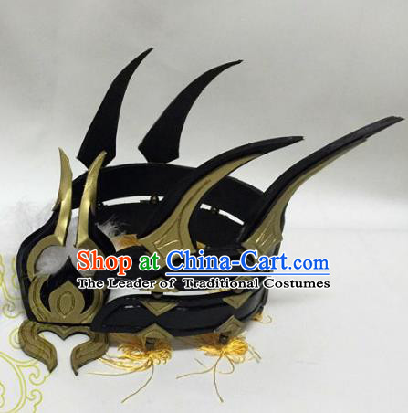 Chinese Traditional Handmade Swordsman Hair Accessories Ancient Knight Headwear for Men