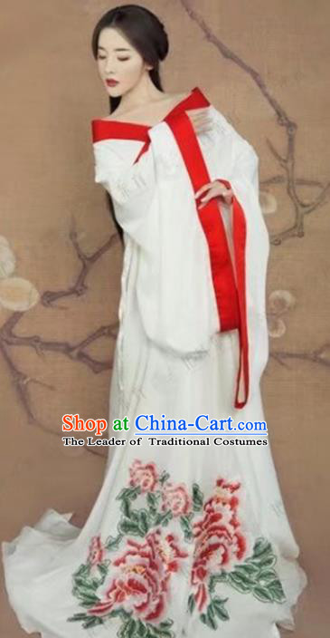 Chinese Ancient Imperial Concubine Hanfu Dress Traditional Tang Dynasty Imperial Consort Costume for Women
